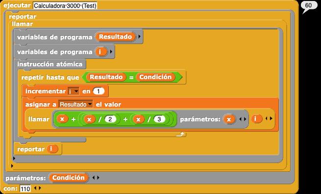 execute (Calculadora 3000 (Test)) with 110